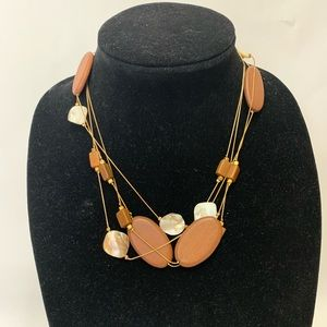 Jewelry - Wood with shell like pieces necklace